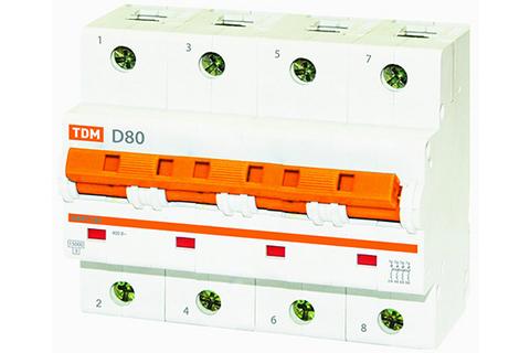Авт. выкл. ВА47-125 4Р 100А 15кА х-ка D TDM