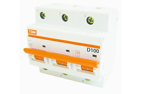 Авт. выкл. ВА47-100 3Р 100А 10кА х-ка D TDM