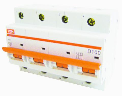 Авт. выкл. ВА47-100 4Р  10А 10кА х-ка D TDM