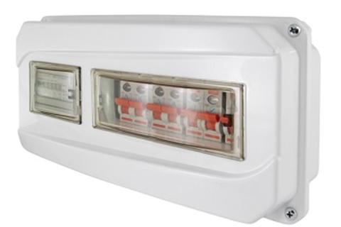 Щит учета ЩРН-13-1ф 167х350х111 мм пластиковый IP55 TDM
