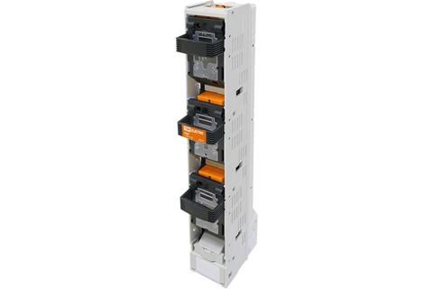 Планочный выключатель-разъединитель с функцией защиты три рукоятки ППВР 1/185-1 3П 250A TDM