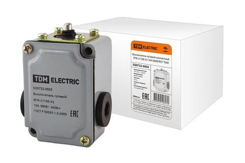 Выключатель путевой контактный ВПК-2110Б-У2 10А 660В IP67 TDM